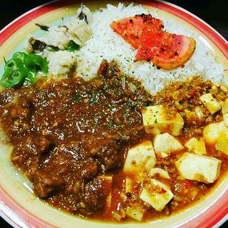 カレー3種盛(酒 to curry アーチル)