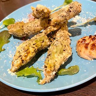 花ズッキーニのフリット(濃厚エビソース)(Grill & Vegetable aurLab.)