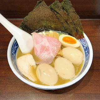 一番搾りの煮干そば(寿製麺よしかわ 西台駅前店)