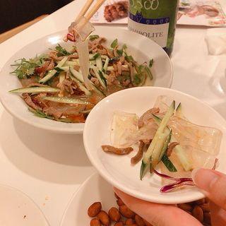 板春雨の冷菜(味坊)