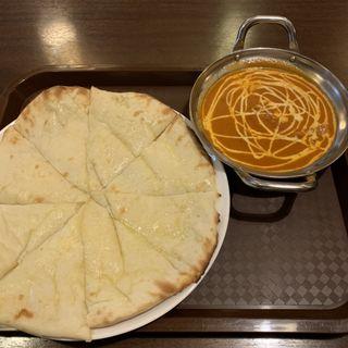 チーズナン バターチキンカレーセット(家帝 大原店 (イエティ))
