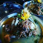 海鮮色々鶏キーマと鯛出汁清湯の二層カレー