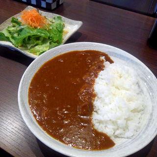 牛すじカレー サラダ付(塚本八百屋 )
