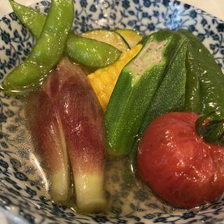 夏野菜のおひたし(横田酒場 (よこたさかば))