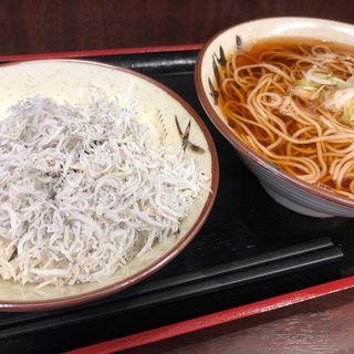 しらすおろし丼セット(そばよし 京橋店)