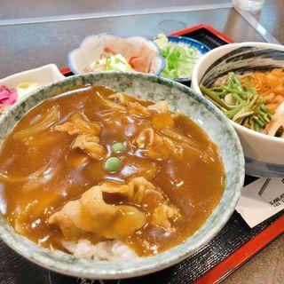 日替わりセット(カレー丼+冷やしたぬきそば)(更科尾山台駅前店 )