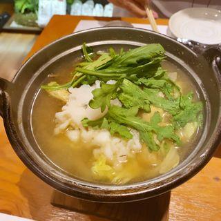 鱧の小鍋(活魚創作料理 かず )