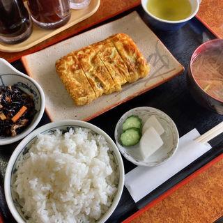 厚焼き玉子とごはんセット、ひじき(いちだ )