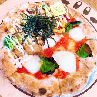 カービィカフェの本格窯焼きピッツァ 〜よくばりハーフ&ハーフ〜