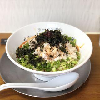 背脂とラー油のまぜ麺(竹末食堂 )