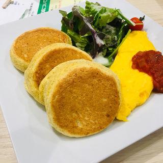 パンケーキ&ふわとろオムレツ(幸せのパンケーキ 名古屋店)
