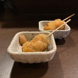 串カツ(大葉うめソース、ポン酢)(名古屋嬢の台所 名古屋栄店)