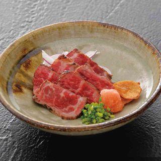 牛炙り香味ぽん酢(あげたち 匠の細麺 つるとんたん (大国町))