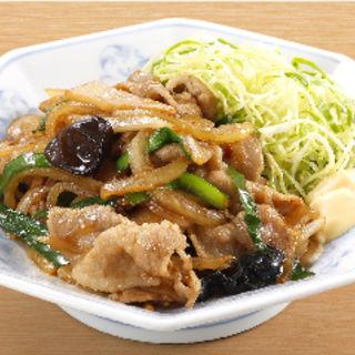生姜焼き定食 餃子セット(福しん 新宿ペペ前店)