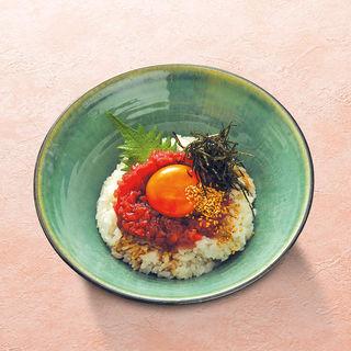 鉄火胡麻醤油小丼(あげたち 匠の細麺 つるとんたん (大国町))