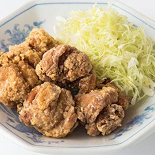 から揚げ定食 餃子セット(福しん 上野駅前店)