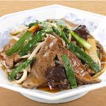レバニラ炒め定食 餃子セット