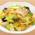 野菜炒め定食 餃子セット