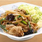 生姜焼き定食 餃子セット