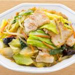 肉野菜炒め定食 餃子セット