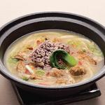 薬膳仕立て 胡麻 鶏白湯スープのおうどん