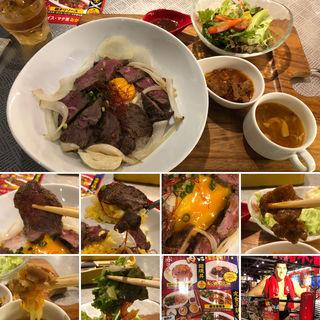牛ミスジ丼(アントニオ猪木酒場 新宿店)
