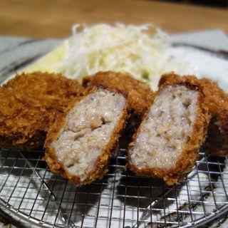 黒豚メンチカツ定食(三匹の黒豚 by 南州農場 福岡パルコ店)