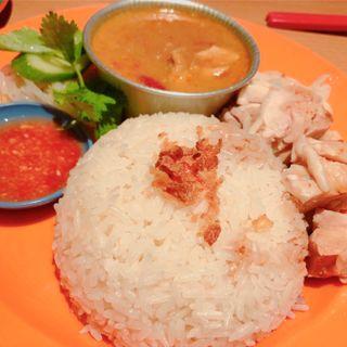 チキンカリー&鶏飯コンビ