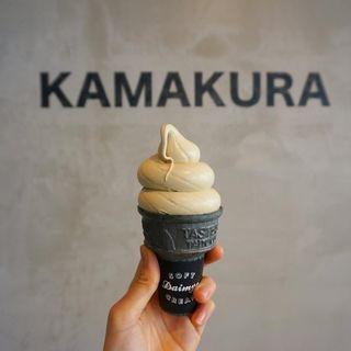 ソフトクリーム ほうじ茶(DAIMYO SOFTCREAM 鎌倉)