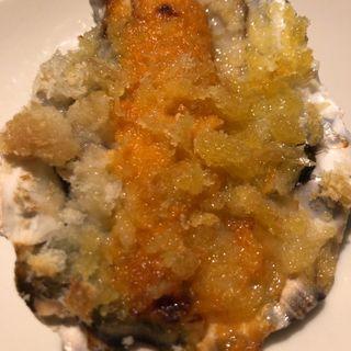 焼き牡蠣 雲丹ソース(オイスターバー ワーフ)
