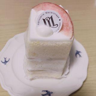 桃のショートケーキ(パティスリーマカロナージュ)