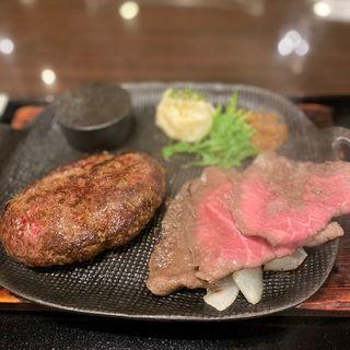 黒毛和牛ローストビーフ&タルタルハンバーグ(神戸れんが亭 大阪ステーションシティ店)