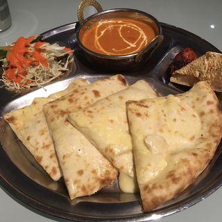 チーズナンセット(インド・ネパール料理 スナオール 烏森店 )