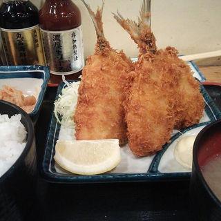 アジフライ(丸冨水産 目黒店 (丸富水産、まるとみすいさん))