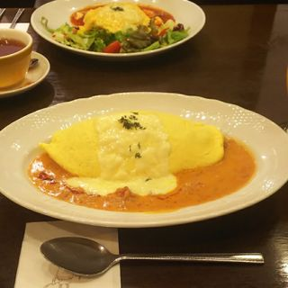 とろ〜りチーズのトマトクリームソース(卵と私 八重洲店 )