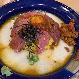 3種まぐろの山かけカレー「雲海」(熟成魚と酒.jp春夏冬)