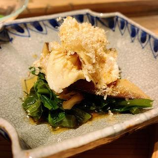 鶏ささみとつる紫の辛子醤油浸し(創和堂-sowado-)