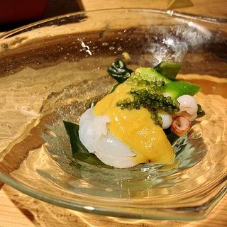 夏蛸と島おくらのぬた(創和堂-sowado-)