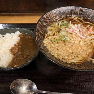 和風豚カレーとお蕎麦のセット(蕎麦 冷麦 嵯峨谷 渋谷店 )