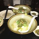 鶏スープのお茶漬け(鶏叉焼・梅・明太子)