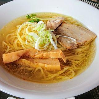 煮干し比内地鶏ラーメン【塩】(エビス食堂)