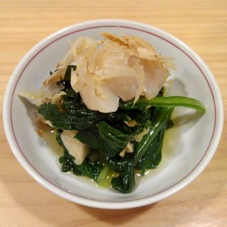 小松菜とホタテの煮浸し