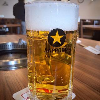 サッポロ生ビール(黒ラベル) 中ジョッキ