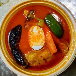 チキン野菜のスープカリー(ダッチオーブン (Dutch-Oven))