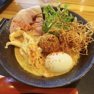 鯛担麺3辛(鯛担麺専門店 抱きしめ鯛)