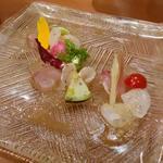 本日の鮮魚のカルパッチョ2種