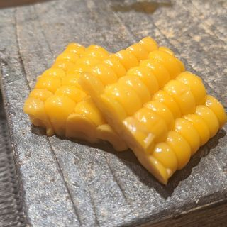 とうもろこし浅漬け(鮨と酒 魚伸)