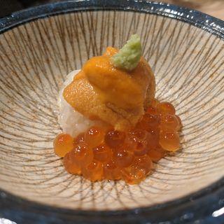 ウニイクラご飯(鮨と酒 魚伸)