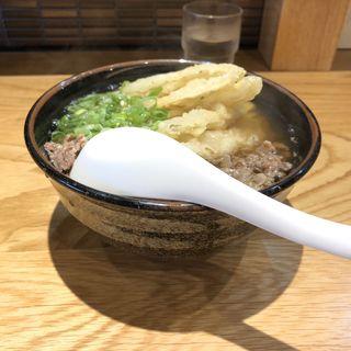 肉ごぼううどん(うどん平)