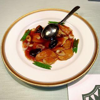 鮑の牡蠣ソース炒め